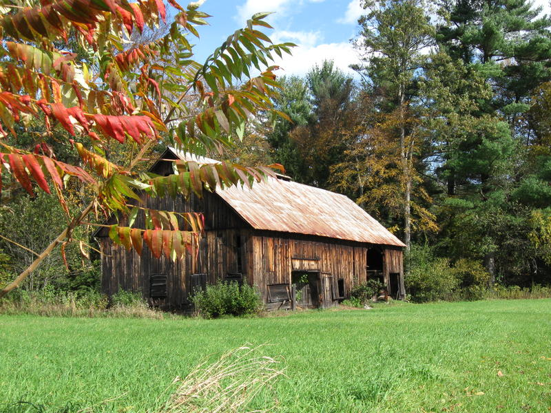 This shed, located in Putney, is one of only two tobacco sheds still standing in Vermont.
