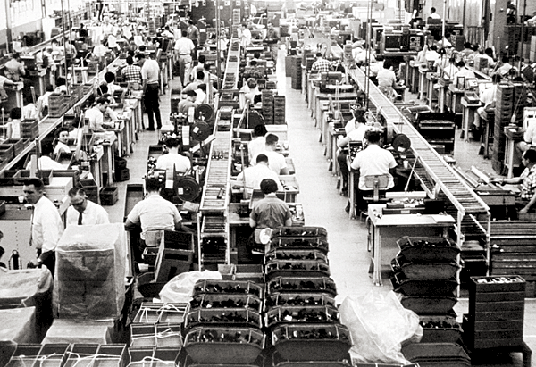 Employees fill the Essex Junction IBM plant in this 1961 photo. At its peak, IBM employed about 8,500 Vermonters, making it the state's largest private employer.