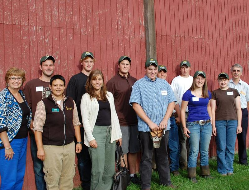 Members of the Youth Ag IDA program with their instructors.