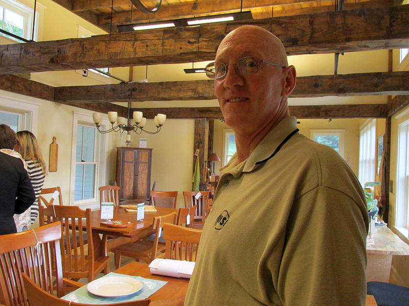 Ken Farabaugh, a VY employee, started a business selling Vermont-made furniture as a fallback option in case work in Vermont's nuclear industry dried up.