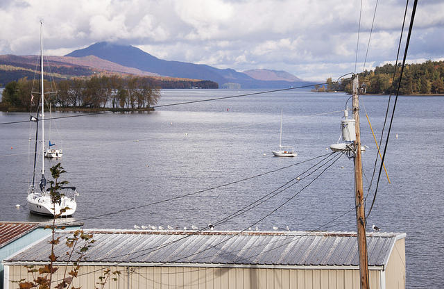 Bill Stenger and Tony Pomlerleau have had an on-again, off-again agreement to transfer ownership of a waterfront plaza strategically located on a causeway overlooking  Lake Memphremagog.