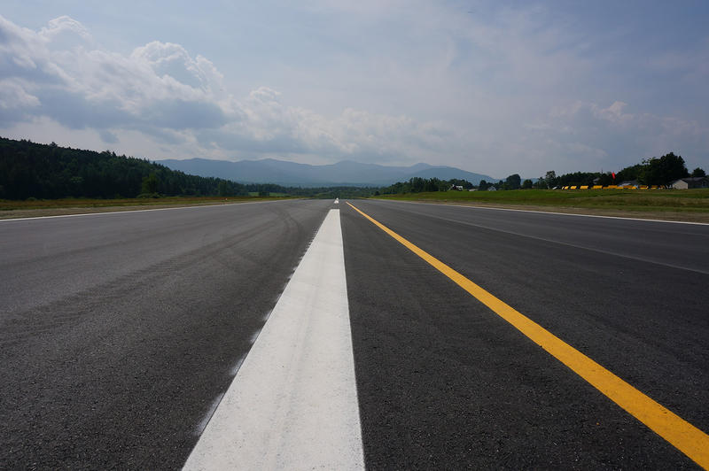 The new runway at the Morrisville-Stowe Airport opened on August 1.