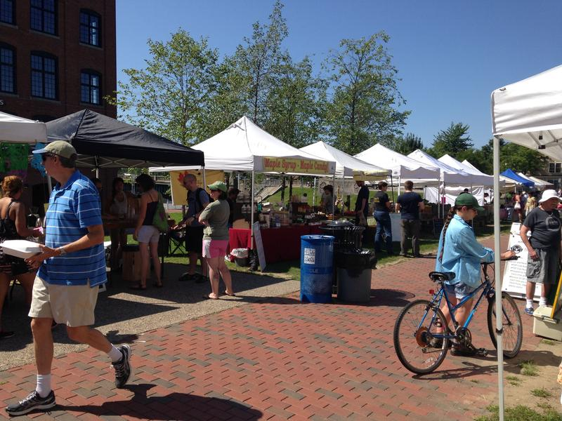 The Winooski farmer's market was the scene of last-minute campaigning for the city's two House seats.