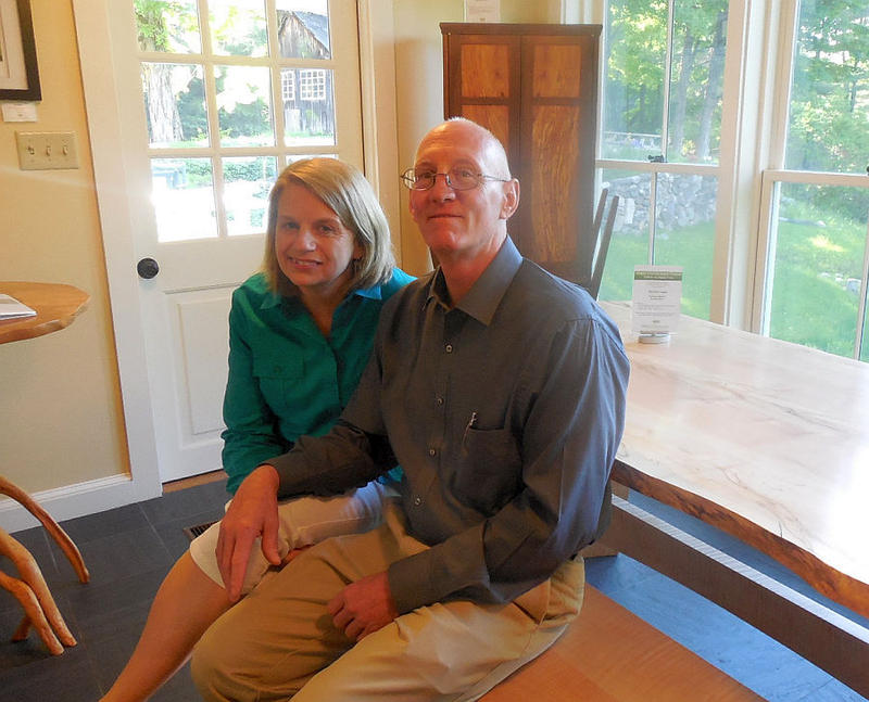 At Vermont Woods Studios, Ken and Peggy Farabaughsells furniture made by local artisans from sustainably grown Vermont wood.