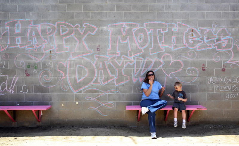 Julie Brisson says the saddest day in prison is Mother's Day. This photo was taken May 3 2014 inside the Folsom Women's Facility in California.