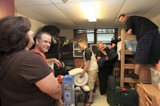 Moving into the dorm rooms is just the beginning. What advice would you give to college freshmen?