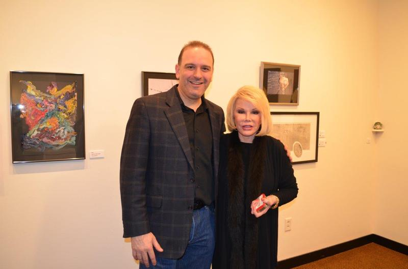 Comedians Jason Lorber and Joan Rivers at the Flynn in April 2012.