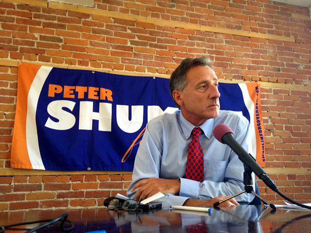 Peter Shumlin has announced his candidacy for a third term as governor.