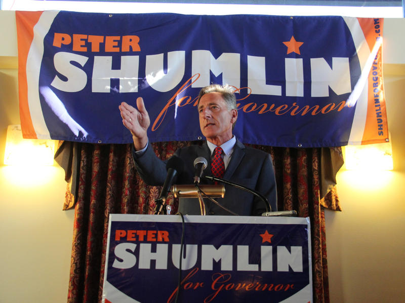 At his campaign kickoff, Gov. Peter Shumlin said he is determined to continue down the path to single-payer and took a few shots at opponents.