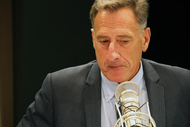 Gov. Peter Shumlin, shown here at a VPR debate on Sept. 23, thinks that Vermont has made steady progress in the treatment of opiate addiction since 2013.