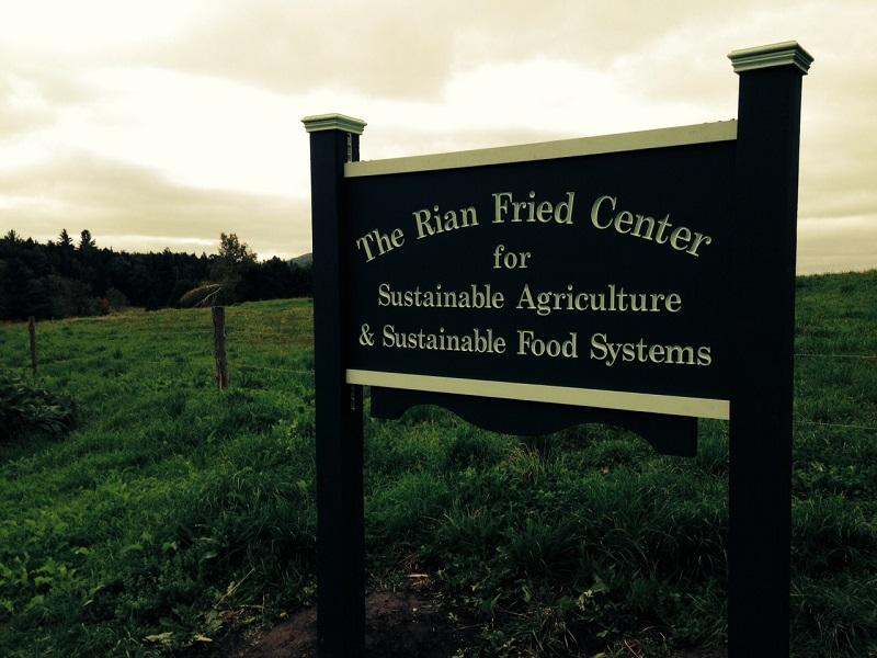 Sterling College is naming its Sustainable Agriculture and Food Systems Center after former trustee Rian Fried, who died in 2013.