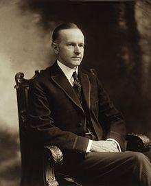 This appears to be Calvin Coolidge as Governor of Massachusetts.