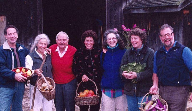 David Rockefeller (third from left) and his six children, 2003.