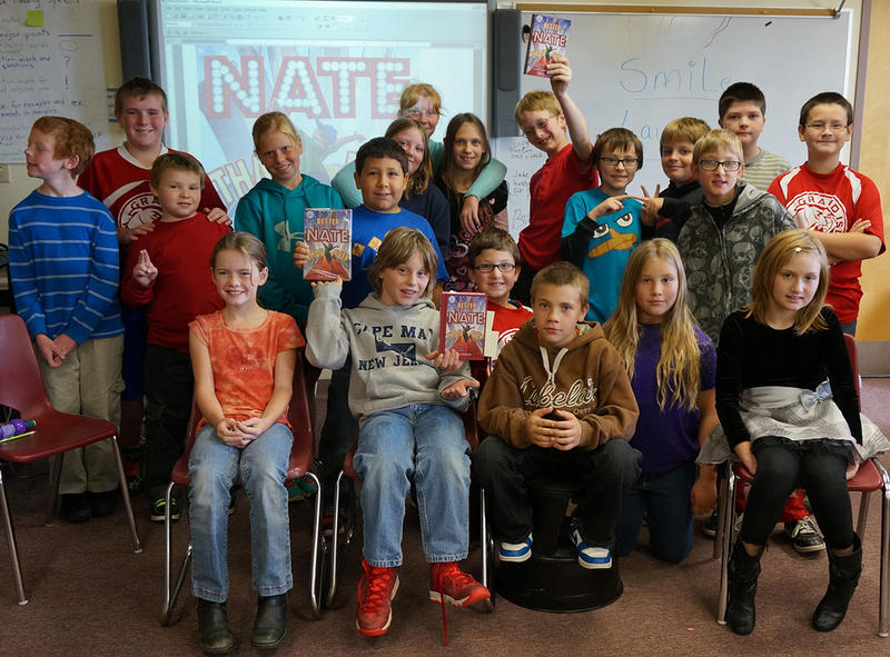 Fifth graders at Grand Isle School have been listening to Tim Federle's 'Better Nate Than Ever' as a group read-aloud.