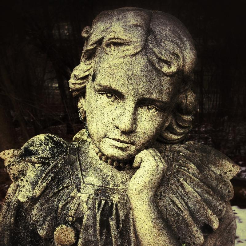 'Little Margaret' is one of the pieces of graveyard art featured in Green Mountain Graveyards exhibit of funerary art.