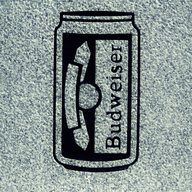Budweiser can engraving in the Fairview Cemetery in East Calais.