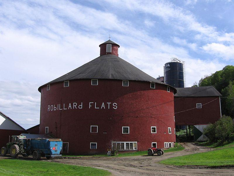 This barn at the Robillard Flats Farm in Irasburg is believed to be the last working round barn in Vermont.