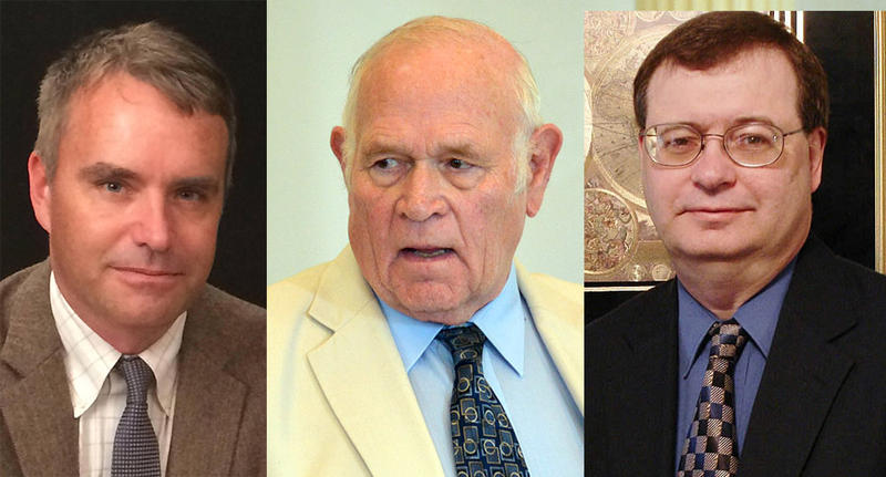 From left, Bennington Rep. Brian Campion, incumbent Sen. Richard Sears and Warren Roaf are vying for the two Senate seats that represent Bennington County and the Windham County town of Wilmington.