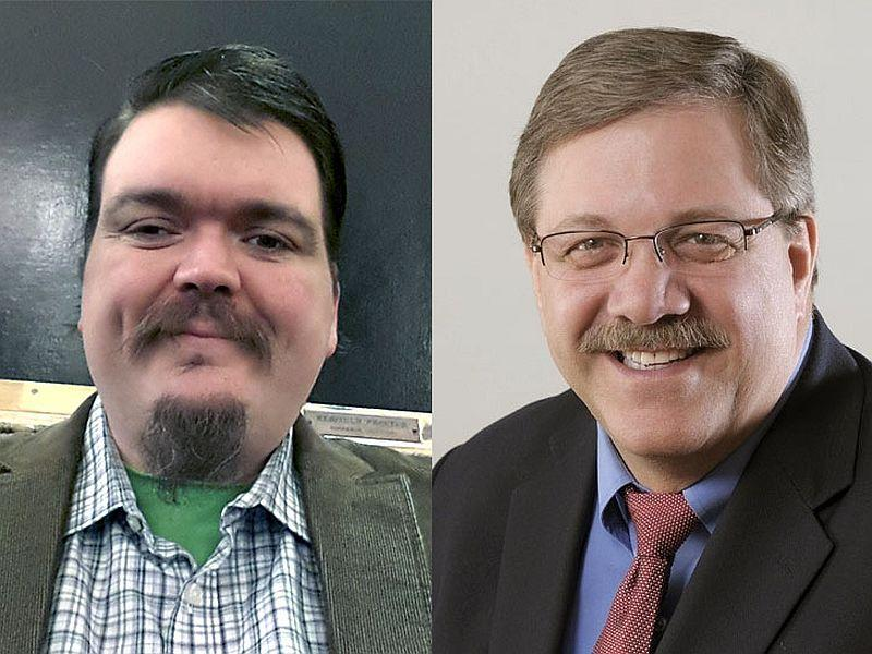 Progressive Ben Eastwood and Democrat Jim Condos are running for Secretary of State.
