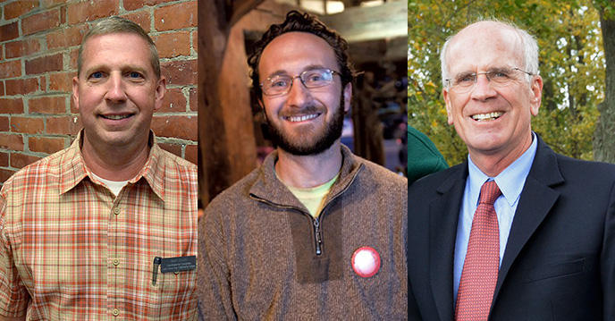 Candidates Mark Donka, Matthew Andrews and Peter Welch.