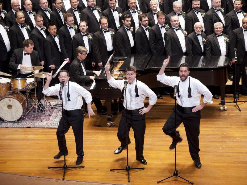 The Boston Gay Men's Chorus, shown here in 2013, comes to the Latchis Theater on Nov. 1.
