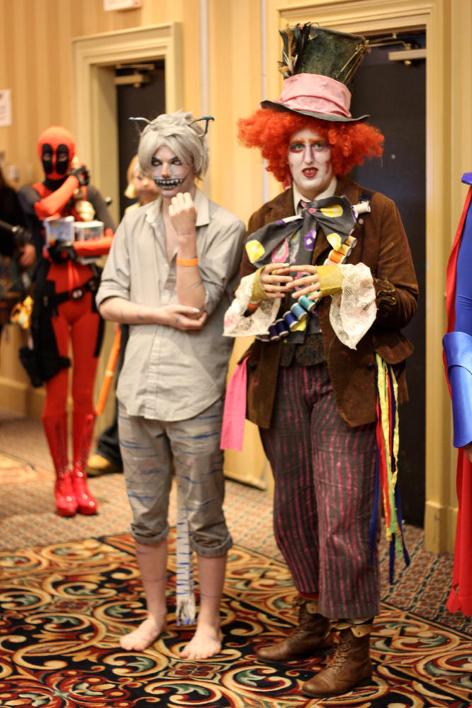 "The Mad Hatter and Cheshire Cat clearly put a lot of thought into their costumes, and it paid off: The pair won in the ""Best Group Costume"" category."