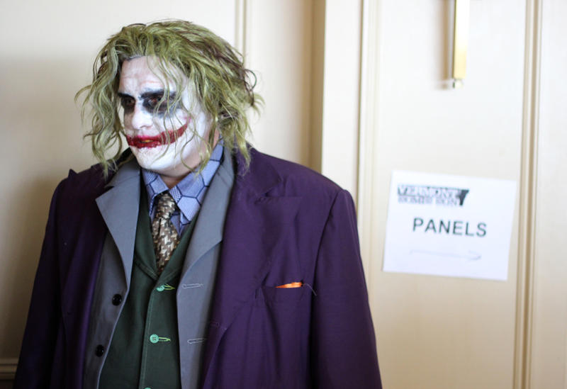 The Joker was one of many characters with elaborate costumes at Vermont Comic Con.
