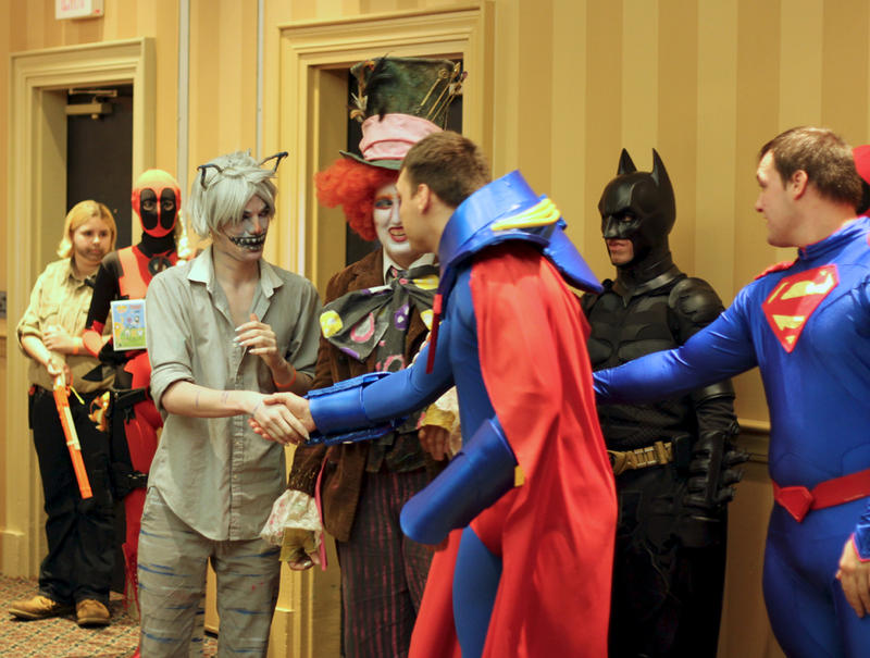 Despite missing the prize, the pair of Superman imitators were first to congratulate the winners. Many of the costumed heroes and villains said the community aspect of cosplay, or costume play, is what makes it so fun.
