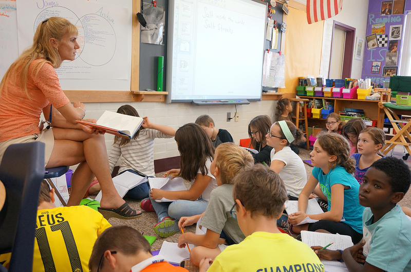 Fifth grade teacher Annick Cooper asks her class to think about the themes in 'Salt'.