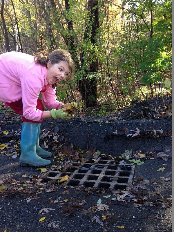 9-year-old Ella Lipkin takes drain defending very seriously.