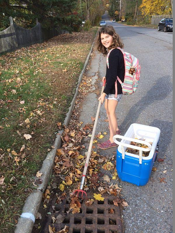 Ella Lipkin and her dad, Steve, have already adopted three Burlington City drains.