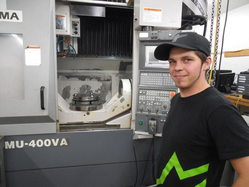 Dave Emerson has made the transition from automotive mechanic to machinist