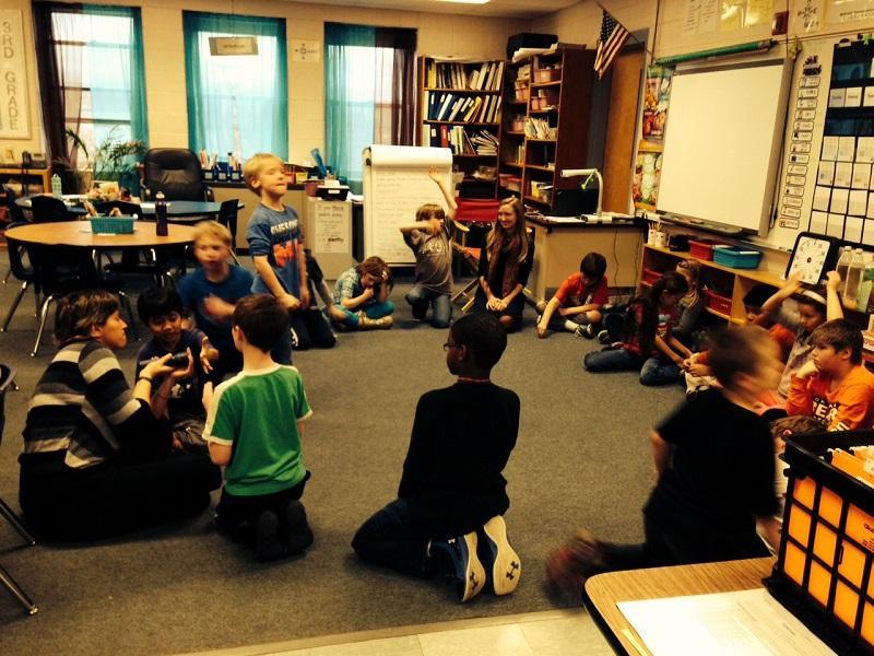 "Third graders at Dothan Brook Elementary School in Hartford earn ""otter bucks"" for good behavior."