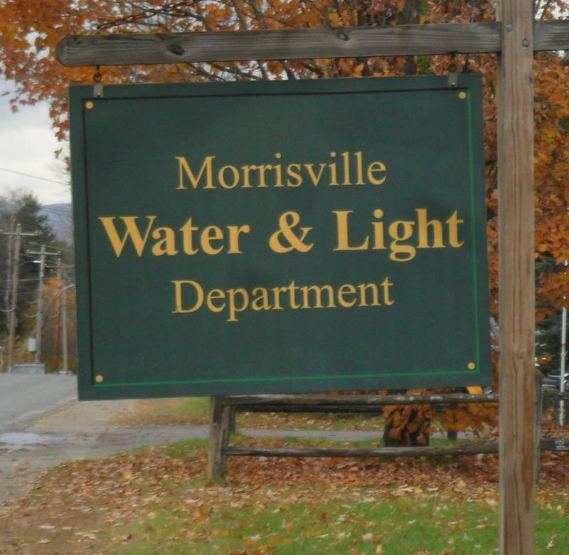 Morrisville Water & Light sign