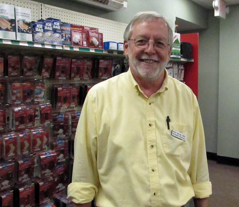 """Rich Harvie, co-owner of the Montpelier Pharmacy, says the price increase for generic drugs -- up to 1,000 percent, in some cases -- are """"ridiculous."""""""