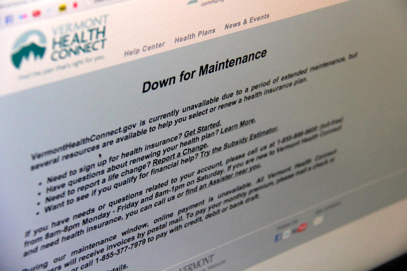 Vermont's health exchange website has been offline since mid-September.