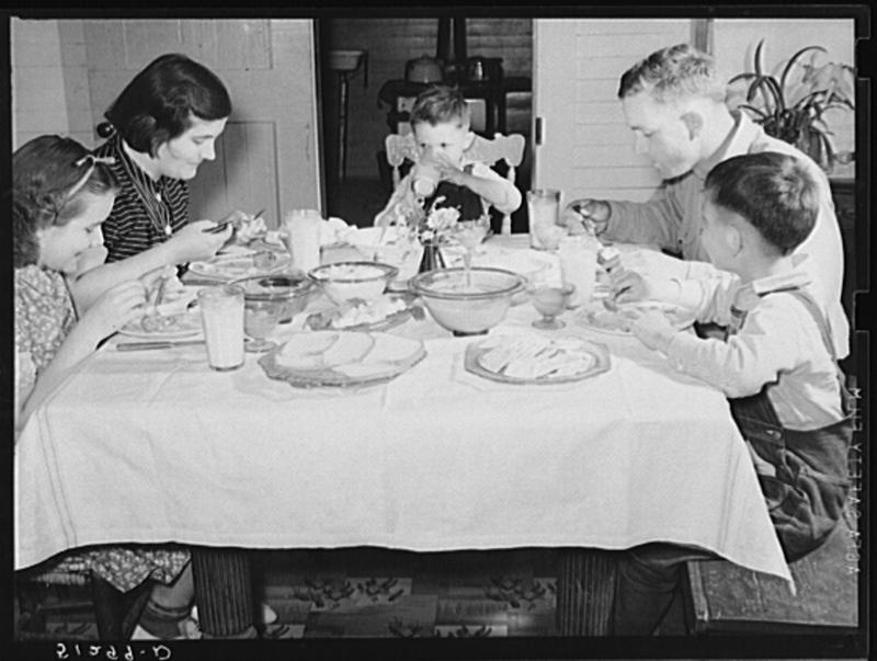 "According to food historian Rebecca Rupp, the ""Leave it to Beaver"" era of nightly family dinners is over. However, she says that 50 percent of American families still get at least four meals together a week."