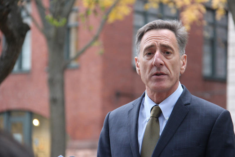 Gpv. Peter Shumlin speaking in Burlington the day after Election Day.