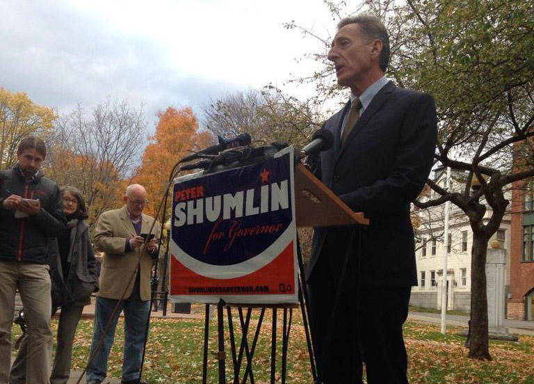 Gov. Peter Shumlin has said the margin of victory in Tuesday's election was disappointing.