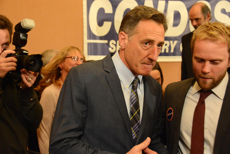 Governor Shumlin on election night.