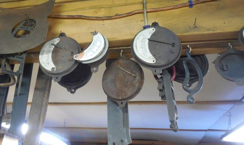 Temperature gauges hanging from a beam will be cleaned up and reused.