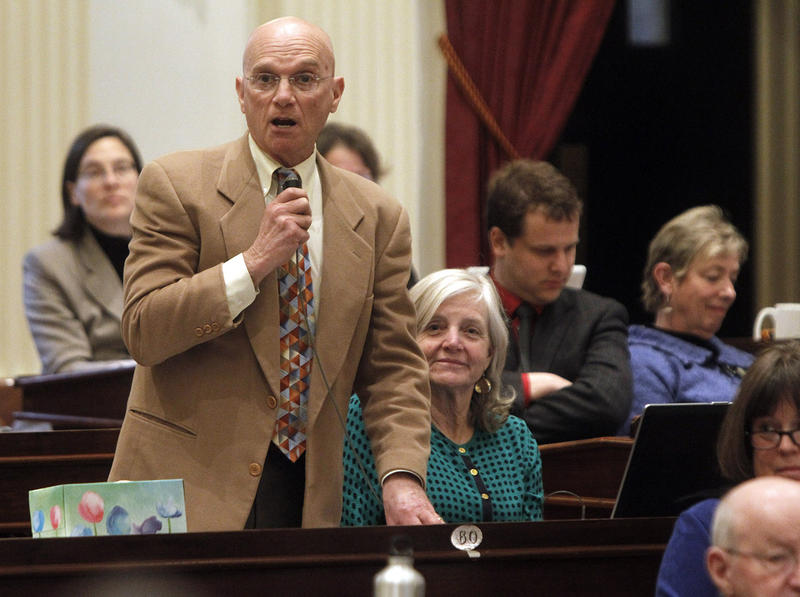 East Montpelier Rep. Tony Klein, shown here in 2013, wants Vermont to become the first state in the country to impose a pollution tax on fossil fuels.