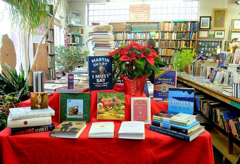 Holiday decor and eclectic books draw shoppers to Green Mountain Books and Prints in Lyndonville.