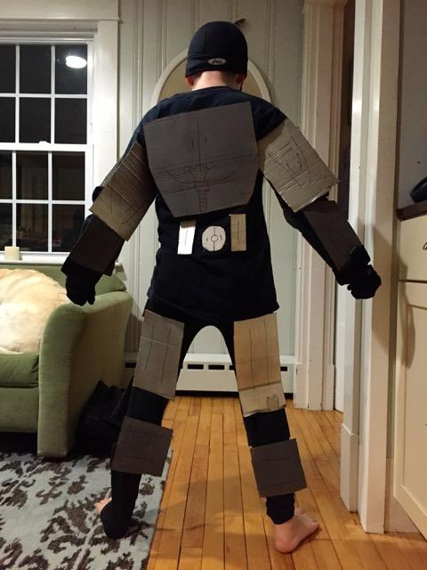 Iron Man costume, back