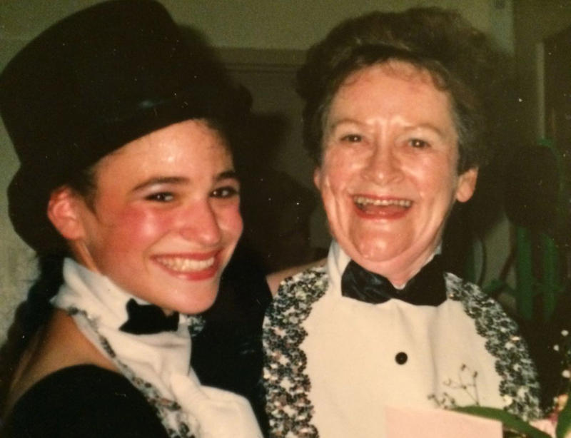 Lorraine Gilbert, better known as Miss Lorraine, right, with student Gina Pezzetti-Carlstrom. Gilbert died at home Friday at the age of 85. She began teaching dance in Rutland in the late 1960s, and had a way of making every student feel special.