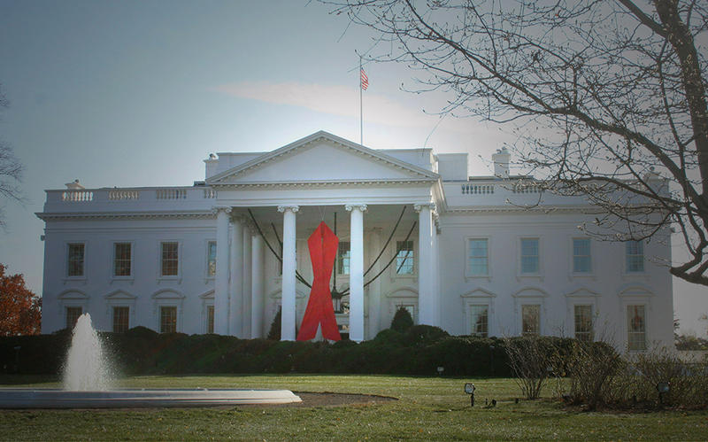 A red ribbon decorates the White House to commemorate World AIDS Day, which is December 1. While the epidemic continues to affect millions worldwide, one Vermonter believes this generation has the potential to prevent further spread of the disease.