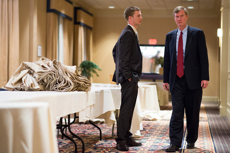 Scott Milne, shown here on the evening of Nov. 4, is preparing for a second election day: Jan. 8, when the Vermont Legislature will choose the state's next governor. An ad from a Newport group calls for lawmakers to choose Milne over Gov. Peter Shumlin.