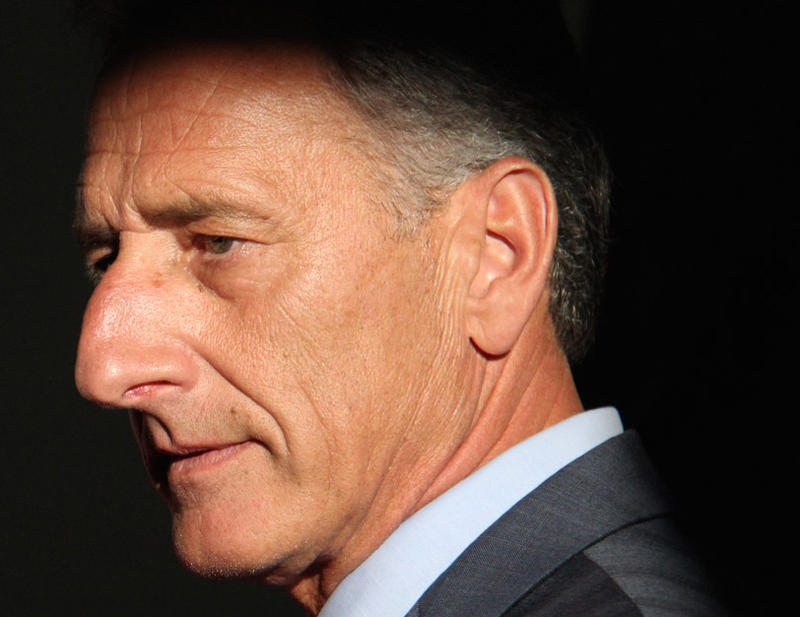 Gov. Peter Shumlin, pictured here at his campaign kickoff in September, backed away from his signature policy initiative this week.