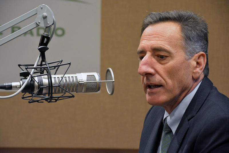 """We put together a very ambitious agenda, and we got most of it,"" says Gov. Peter Shumlin, shown here at the VPR studios in December."