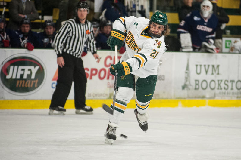 This season, the UVM men's hockey team has had its best start since 1987 and hopes to qualify for the NCAA tournament.